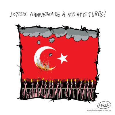 Droits de l'homme bafoué en Turquie.