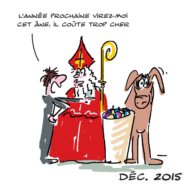 Dessin Humoristique St Nicolas Frederique Moors