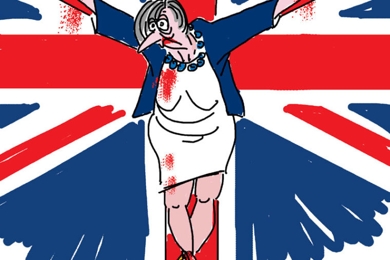 dessin satirique Theresa May