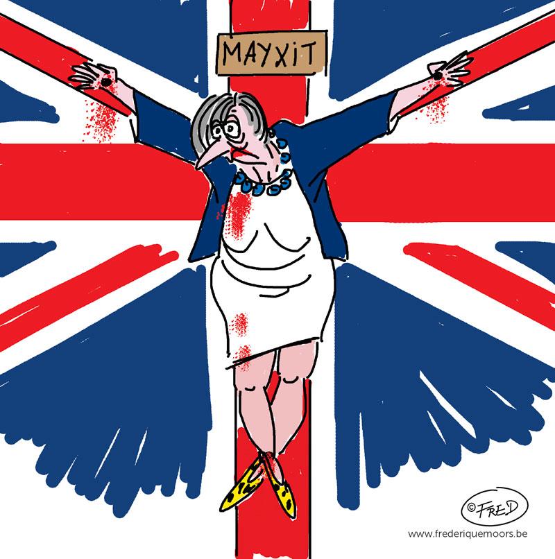 dessin satirique Theresa May