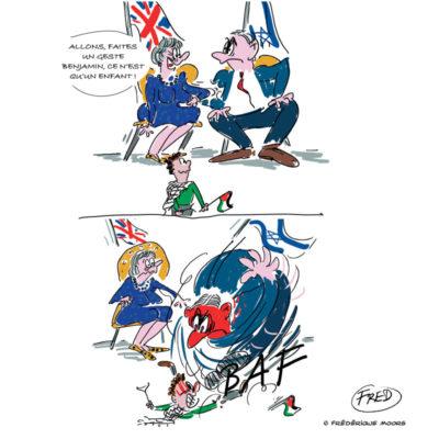 Theresa May rencontre Benjamin Netanyahu pour tenter d'apaiser la situation en Palestine